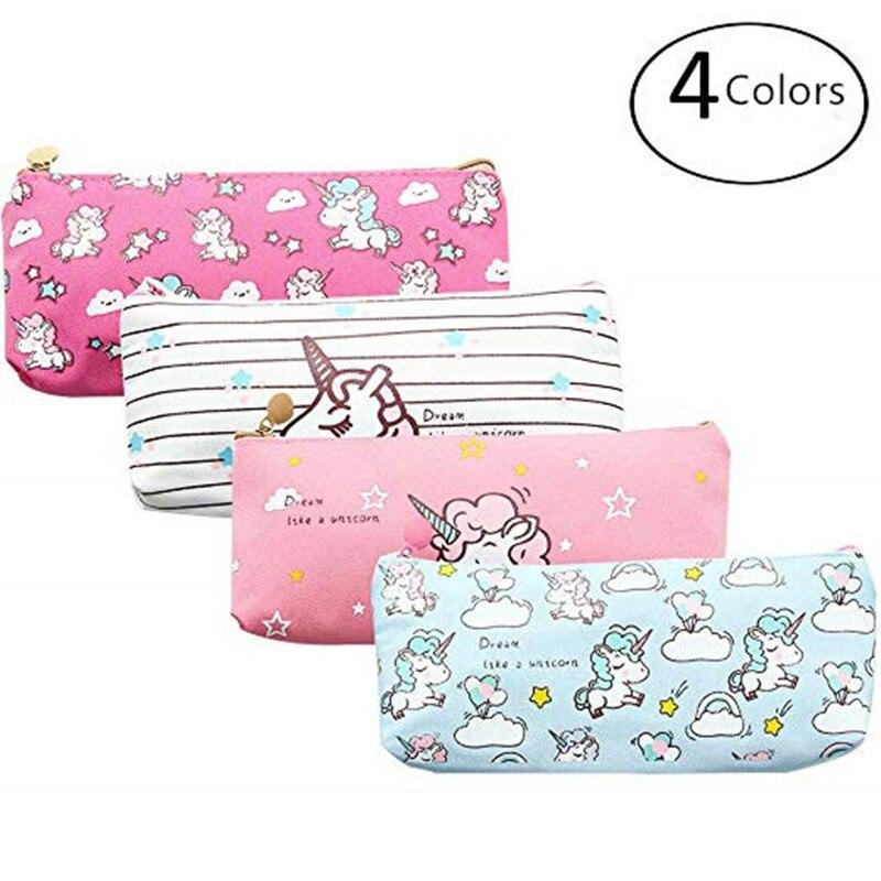 Unicorn Pen Pencil Case Cute Unicorn Pen Box Pouch Holder For Girls Kids Boys Teens