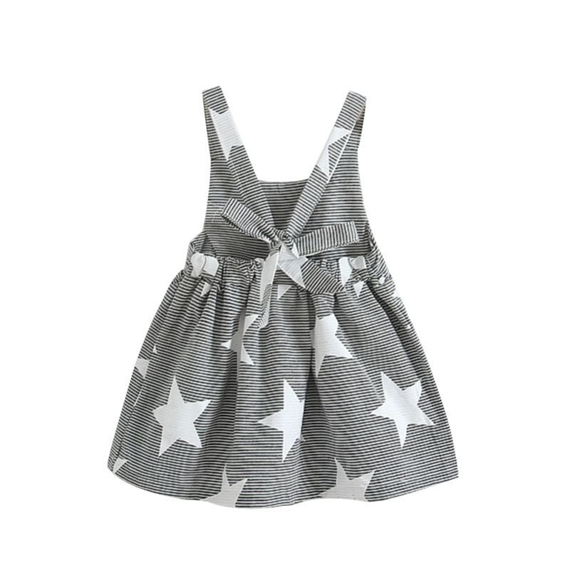 K16 Summer Baby Kids Girls Star Sleeveless Clothes Beach Sundress Party Dresses New k s kids голодный пеликан подвеска k s kids