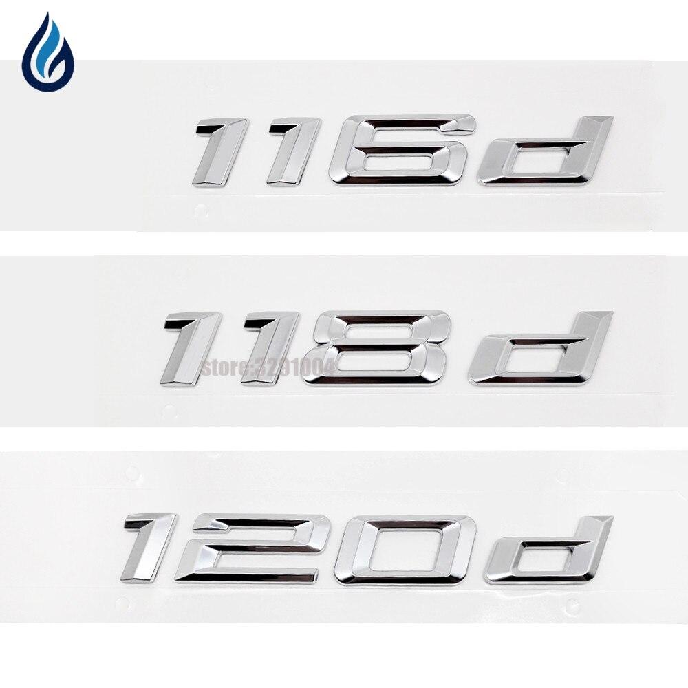 120d Emblem Boot Badge Carbon Fibre Letter for BMW E81 F20 E87 E88 1-Series