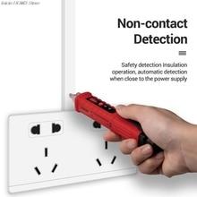 VD802 Бесконтактный переменного тока индикатор напряжения метр 12 V-1000 v ручка Стиль Электрический счетчик светодиодная розетка индукция переменного тока Напряжение Dectet