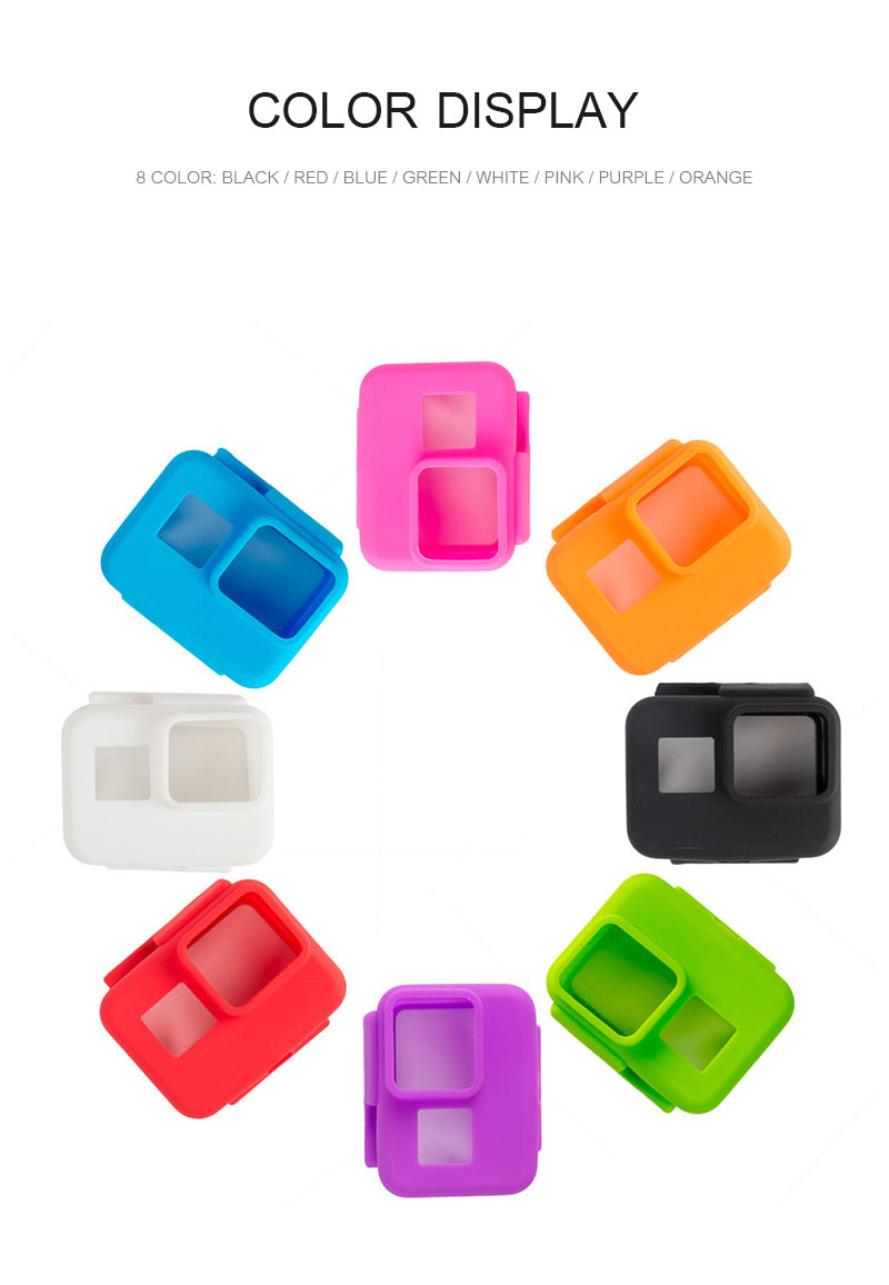 Colorful Soft Silicone Rubber Frame Protective Case for GoPro Hero 5 Black Protective Cover for Go Pro 5 Camera Accessories (2)