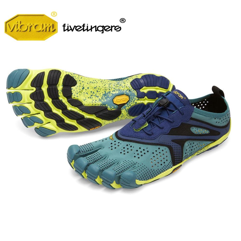Vibram cinq doigts V-RUN hommes Sports de plein air route chaussures de course cinq doigts vêtements respirants résistant cinq-toed baskets