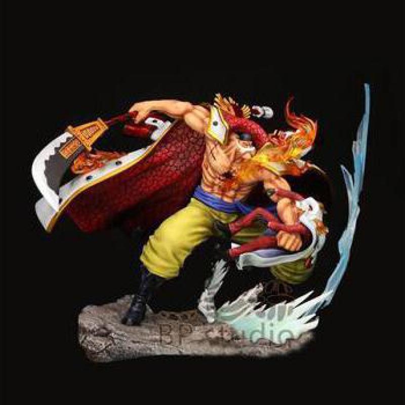 One Piece Edward Newgate White Moustache Action Figures GK Model Toys 22cm