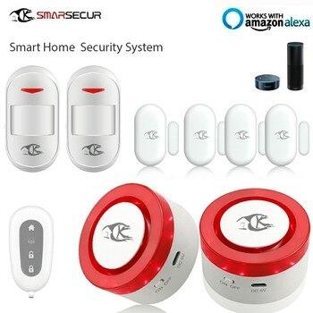 Wireless WIFI Smart Home Alarm System Kit 2xSiren 2xPIR Sensor 4x Door Contact