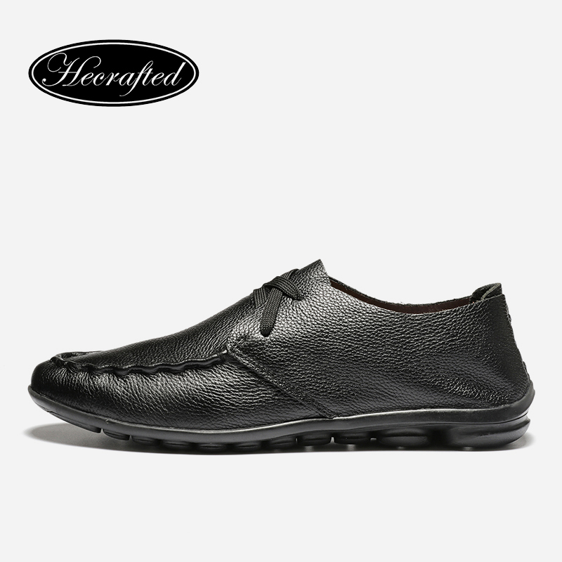 Handmade Genuine soft leather Men leather flats shoes 2017 autumn brand shoes for men Original Hecrafted