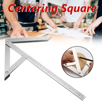 8'' Precision Centering Square Gaging Center Gauge Round Bar Mark Finder Tool Chrome Plated Carbon Steel Laser Engrave Accurate