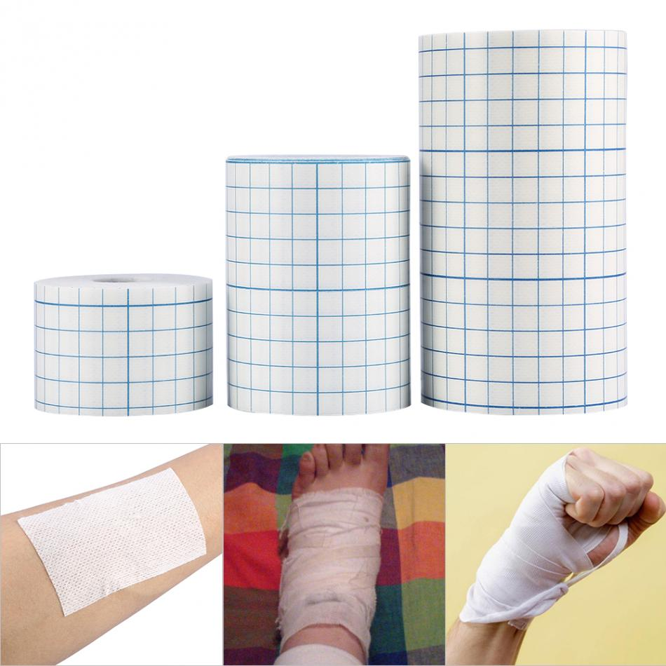 3 Sizes 1 Roll Waterproof Non-woven Adhesive Wound Dressing Medical Fixation Tape Bandage Breathable For Dressing Foot Care Tool lnrrabc hot 6colors self adhesive ankle finger muscles care non woven fabrics wrist support medical bandage