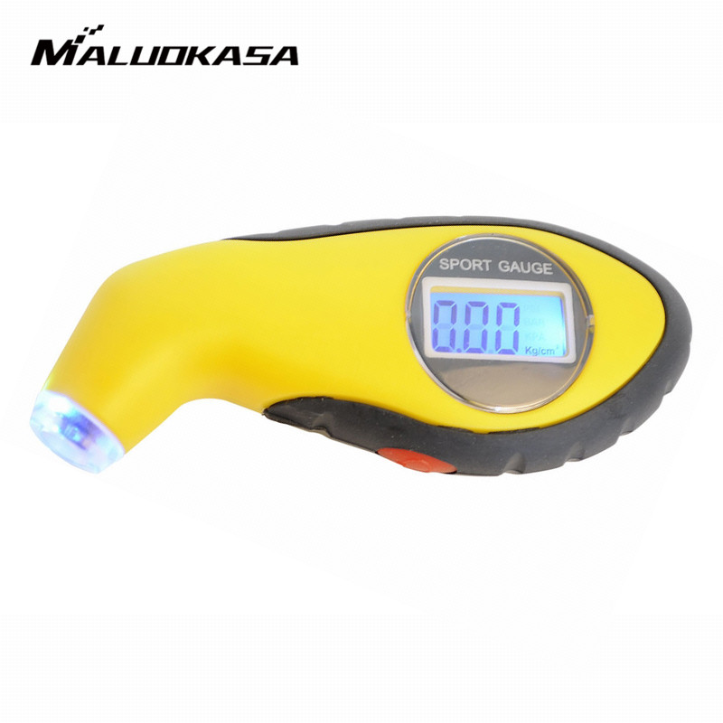 MALUOKASA Car Motorcycle Diagnostic Tools Auto Tire Pressure Gauge Meter Manometer Barometers Tester Digital LCD Tyre Air Tester new 150psi lcd digital tire tyre air pressure gauge tester for car auto motorcycle messurement