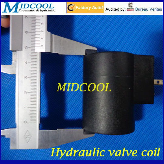Hydraulic solenoid valve coil Inside diameter 14mm High 50mm DC24V