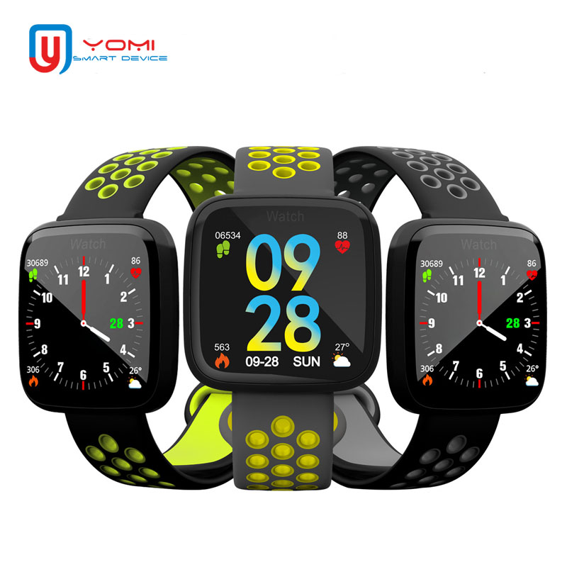 Smart Wristband F15 IP67 Waterproof Heart Rate Monitor Fitness Bracelet Smart Rminder Wearable Device Android Bracelet for Adult