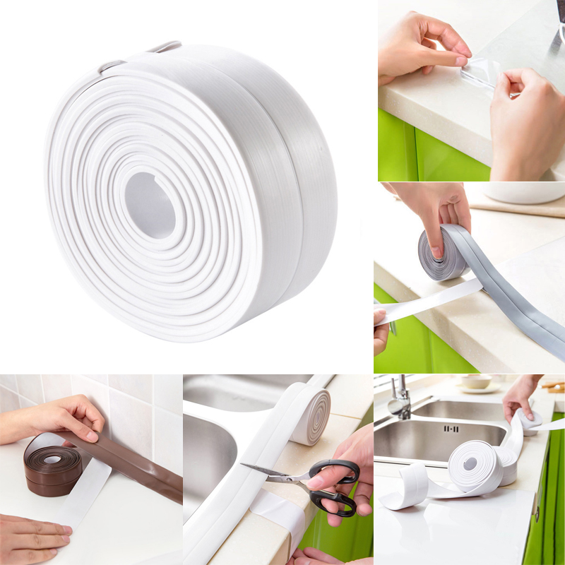 Home Decor Home & Garden Whism 255cm Self Adhesive Tape Wall Sticker Kitchen Gas Stove Slit Strip Mouldproof Line Stickers Bathroom Corner Sealing Strip
