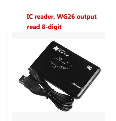 Free Shipping ,RFID Reader, USB Desk-top Reader, IC Card Reader,13.56M,S50,Read 8-digit,wg26 Output,sn:06C-MF-8, Min:5pcs