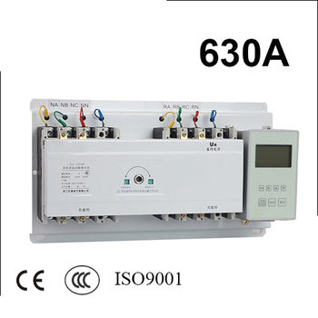 630A 4 polos 3 Fase 220 V/230 V/380 V/440 V interruptor de transferencia automática ATS con controlador inglés