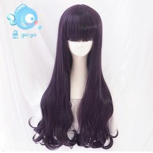 Image 3 - Biamoxer Peluca de pelo rizado para Cosplay Peluca de Anime de 70cm, naiper Sakura, tarjeta transparente, Tomoyo Daidouji