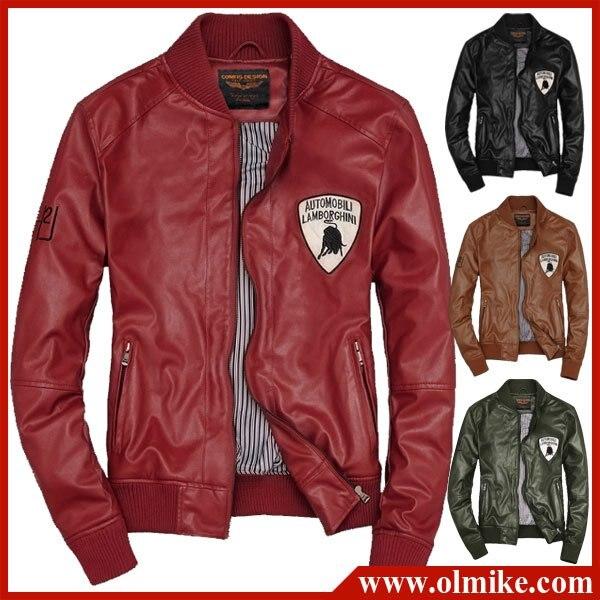 New Slim Sexy Top Designed Mens Motorbike Leather Jacket Men S