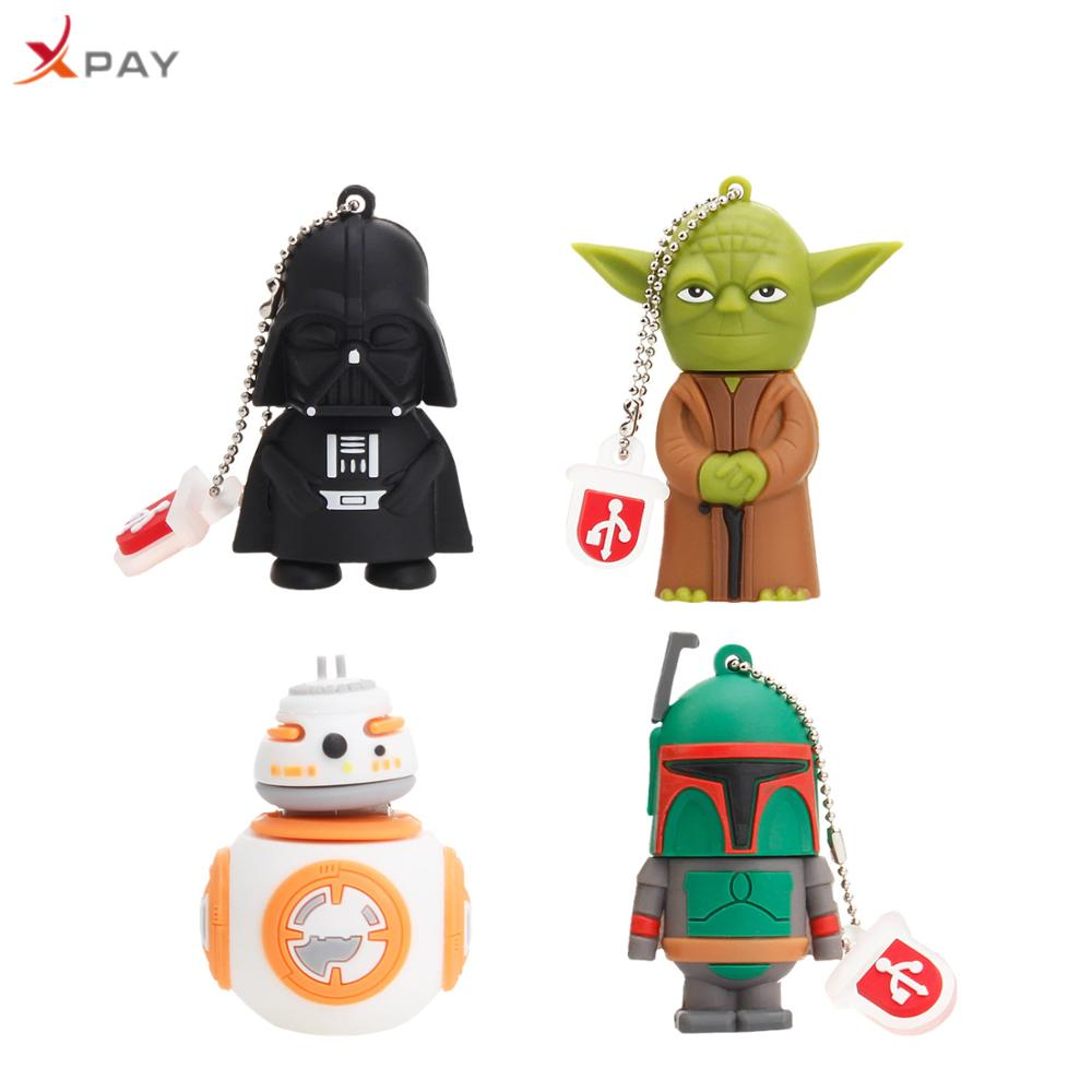 USB 2.0 Yoda Star wars USB flash drive pendrive cartoon Silicone 128GB 64GB 16GB 8GB 4GB all styles usb flash 32GB free shipping-in USB Flash Drives from Computer & Office