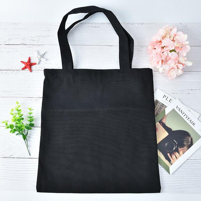 Ecofriendly White Women Canvas Shopping Bags Casual Tote Shoulder Versatile Sack Summer Holiday Beach Diy Painting Handbag Shopping Bags Functional Bags
