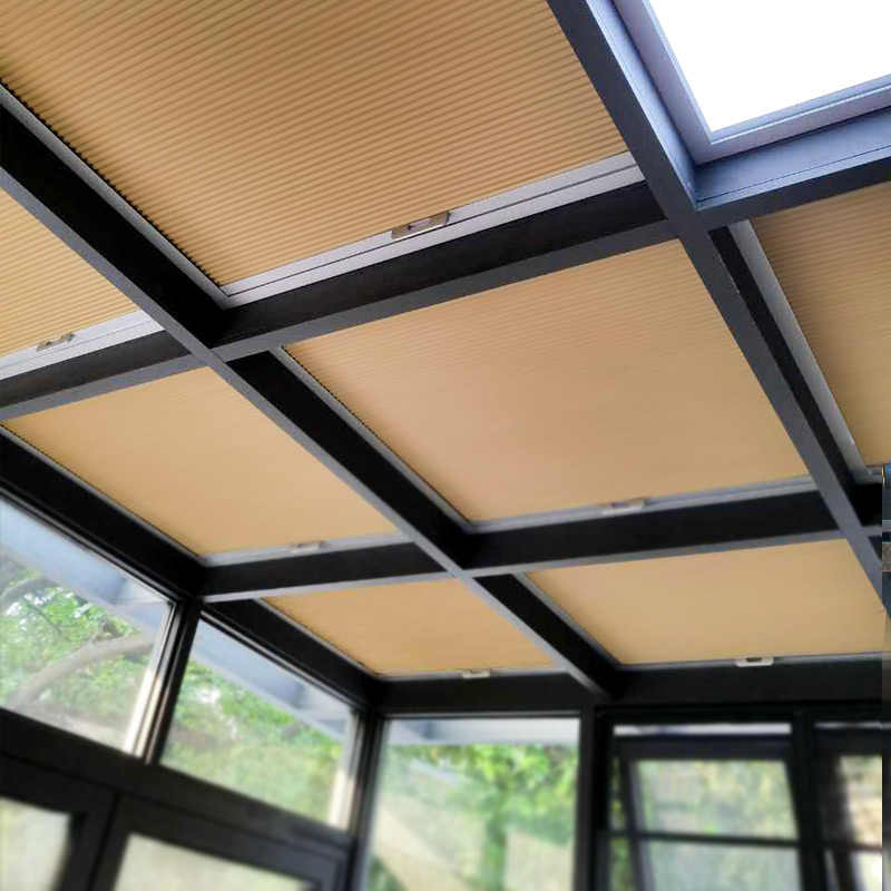 High Quality Motorized Roof Blinds Smart Honeycomb Blinds