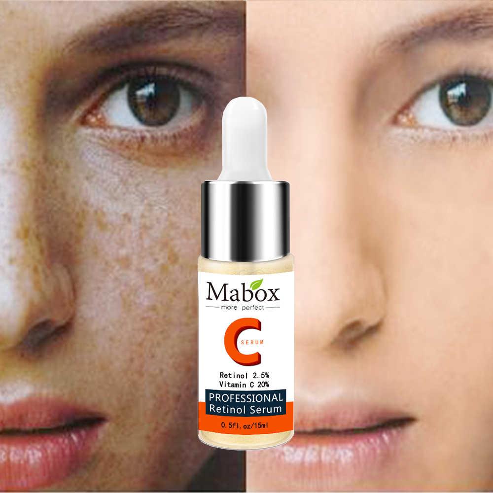 Mabox Retinol Huyết Thanh Trên Khuôn Mặt Vitamin C Làm Trắng Huyết Thanh Axit Hyaluronic Mặt Chăm Sóc Da Điều Trị Mụn Trứng Cá Loại Bỏ Mụn Đầu Đen Ngày Kem