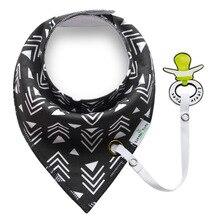 XCQGH NEW Style Baby Bibs Bandana Black Triangle Bib For Girls Boys Toddler Infant Feeding Cotton Towel Baberos