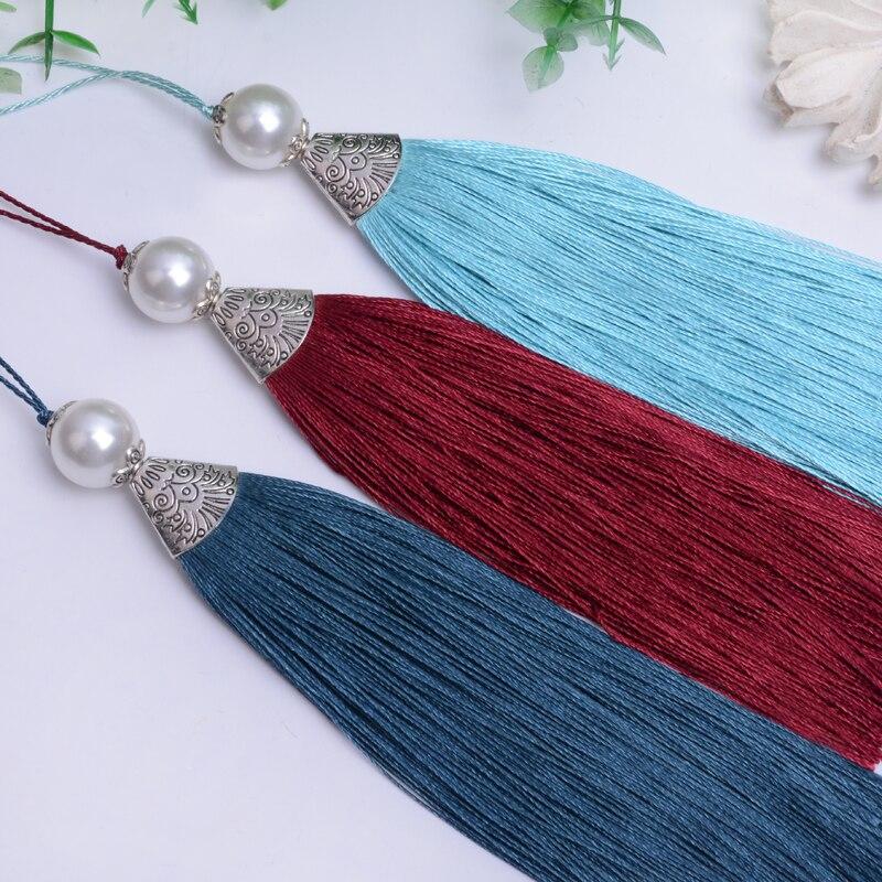 Pearl Fish Mouth Tassel Hanging Tassel For DIY Craft Phone Pendant Key Chain Hanging Bag Garment Cloth Decoration 1pcs QT055