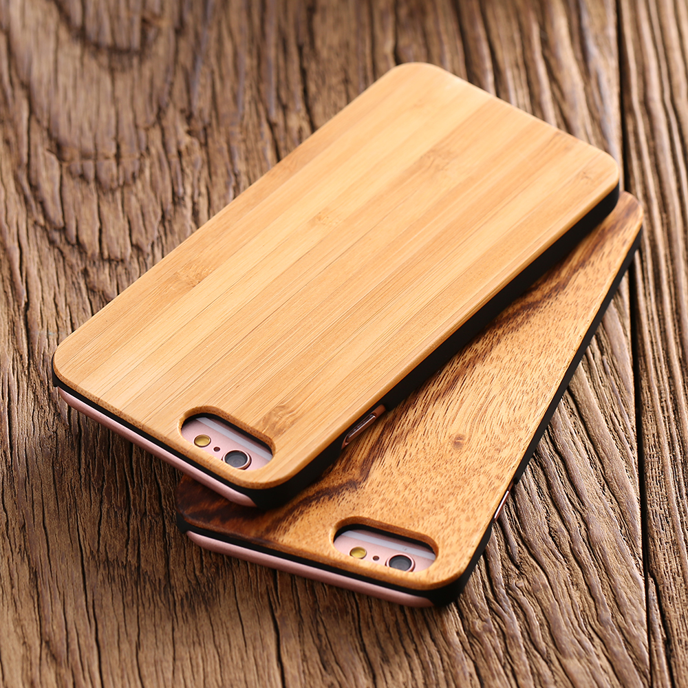 Real Wood Case for iPhone 6 /6S for iPhone 6 Plus /6S Plus Natural Wood Hard Back Cover Luxury High Quality Durable Phone Bags wood