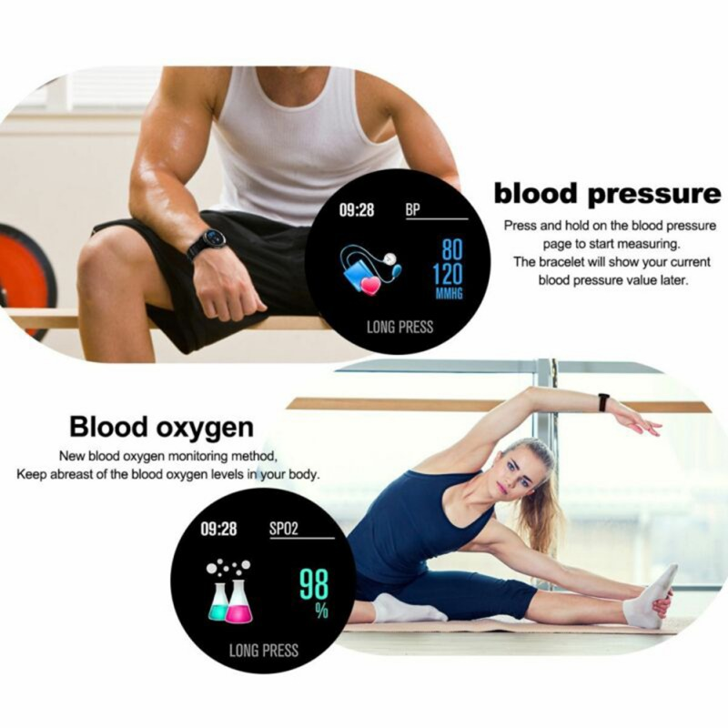 CF58 Color Screen Smart Watch IP67 Waterproof Tempered Glass Fitness Record Heart Rate Monitoring Men 39 s And Women 39 s Smart Watch in Digital Watches from Watches