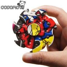 6 см многоцветный внешний вид формы руки spinner 2017 Популярное издание пластика палец счетчик игрушки для взрослых