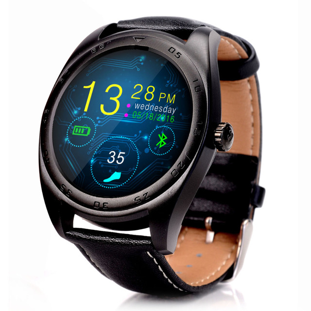 2016 NEW Smart Watches K89 Round Bluetooth Smartwatch For Android Phone and ISO iPhone with Heart Rate Monitor Wearable Devices