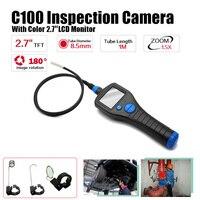 Eyoyo 8.5mm 2.7 Endoscope Borescope Inspection Snake Scope Camera Rotate Zoom 6 LED 1M Tube