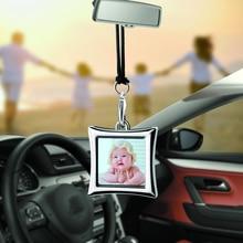 Auto Anhänger Kreative Foto Rahmen Auto Ornamente Innen Rückspiegel Dekoration Liebe Familie Mädchen Jungen Freunde Fotos Geschenke