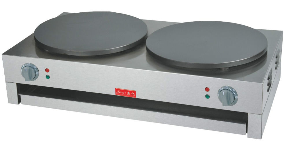 FYA-2/2.R Electric and gas 400mm double pan Crepe Maker Commerical pancake baking machineFYA-2/2.R Electric and gas 400mm double pan Crepe Maker Commerical pancake baking machine
