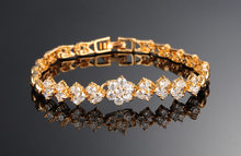 2020 модные браслеты в форме цветка золотого цвета с кубическим