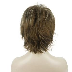 Image 2 - Strongbeauty 女性のかつら黒/ワイン赤 bfluffy ショートストレートレイヤ髪合成フルウィッグ