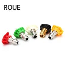 "ROUE Real 1/4 ""Rvs 4000 Psi Quick Connect Hogedrukspuit Tip 0 15 25 40 65 Graden nozzle 4.0 Orifice Maat"