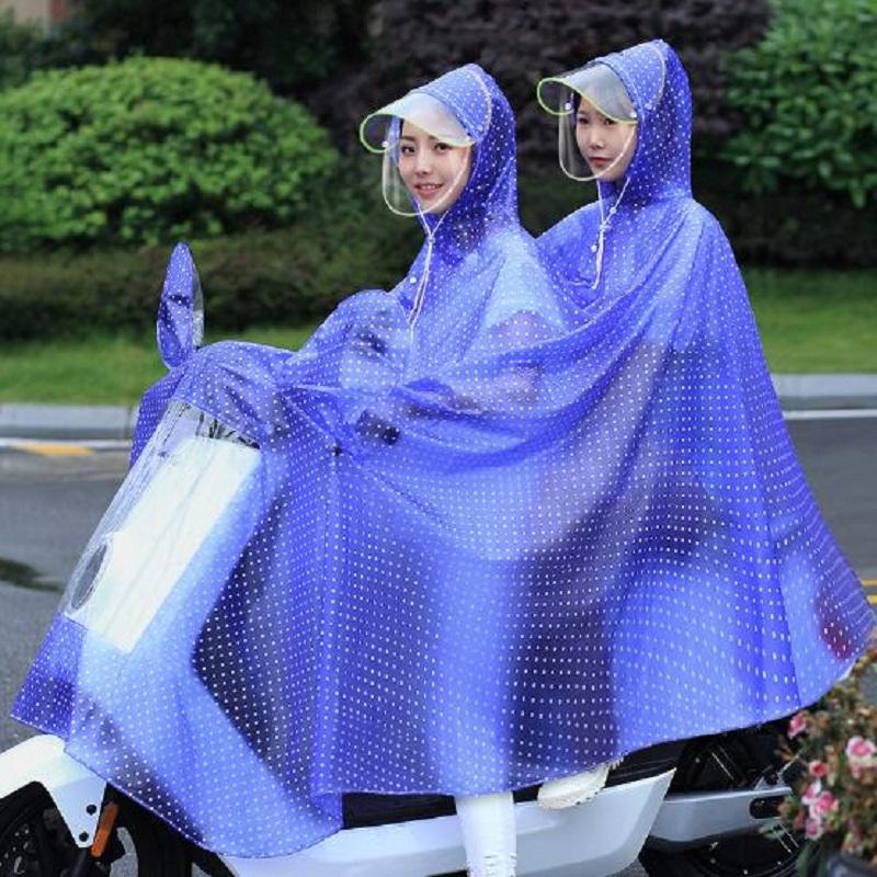 Image result for áo mưa trong suốt hai mũ