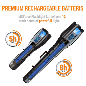 Image 5 - 슈퍼 밝은 led 전술 손전등 방수 t6/l2 방수 토치 5 모드 zoomable 손전등으로 설정