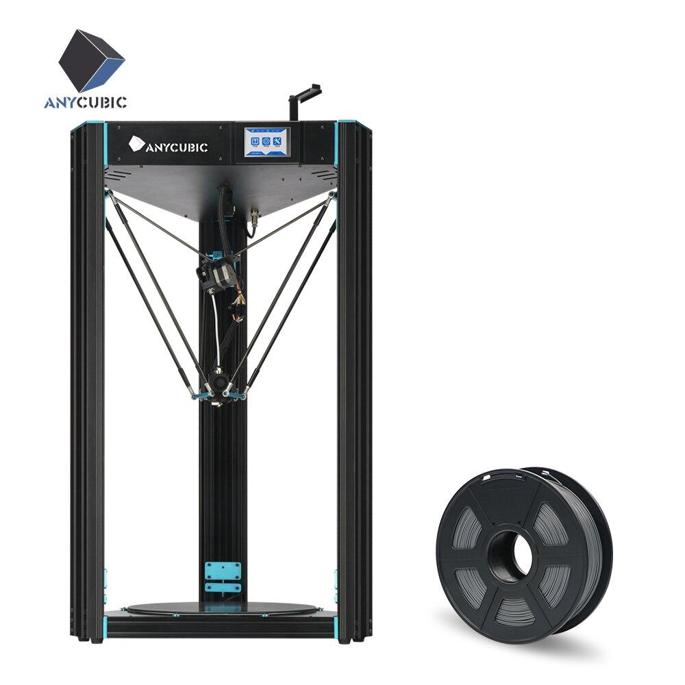 ANYCUBIC Predator Delta Kossel 3D 370 370 455mm Printer Plus Size pre assembled Ultrabase Pro 3D