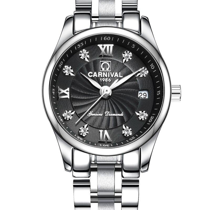 Carnival Luxury Brand Watch Women Japan Quartz clock Switzerland Women Watches Male Waterproof Military reloj hombre C8827L-2