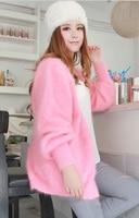 נשים סוודר קשמיר מינק 100% מינק קשמיר טהור חדש אפודות סוודר גודל גדול בחנויות סיטונאית משלוח חינם S242