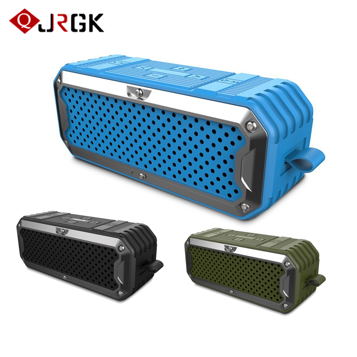 JRGK ZEALOT S6 Waterproof Wireless Bluetooth Speakers With Microphone Dual Drivers Subwoofer AUX TFPower Bank 5200mAh Battery