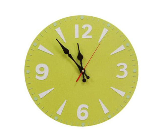 Green Large Decorative Wall Clock Kitchen European Retro Items Style Wall  Clock Modern Design Fashion Silent