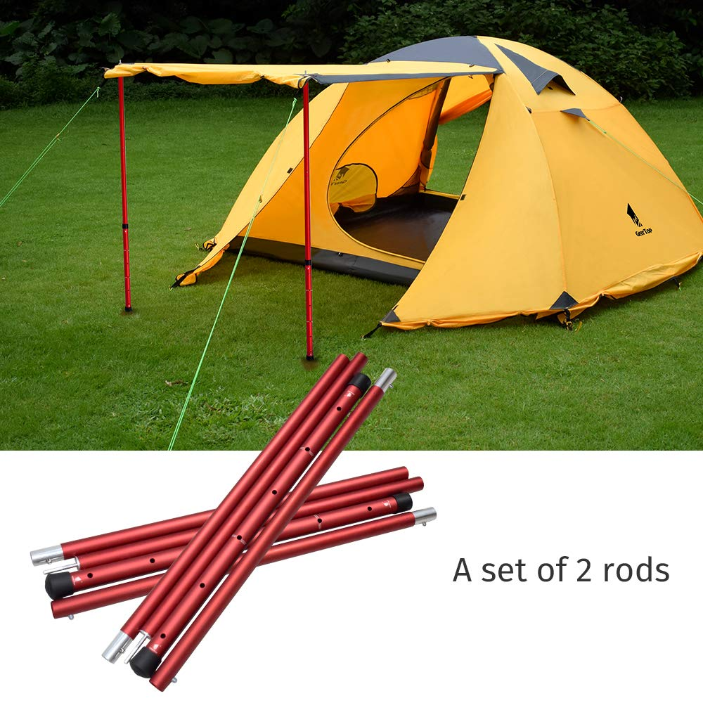 GeerTop Aluminum Adjustable Tent Pole Telescopic Tarp Poles Camping Accessories Awning Support Rods for Outdoor Hiking