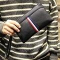 Los hombres de la marca casual de negocios de cartera, cremallera embrague versátil bolsa de los hombres, sólido de alto grado de LA PU bolso de cuero, envío libre