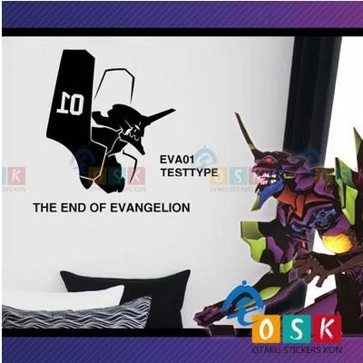 Car Sticker Japanese Cartoon Fans THE END OF Evangelion EVA01 TESTTYPE Vinyl Wall Stickers Decal Decor Home  Decoration diy japanese cartoon car stickers animation drift sticker printing carving protection film car funny camouflage graffiti decals