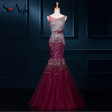 SoAyle Mermaid Luxury Beading Crystal Evening Dresses
