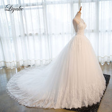 Liyuke J15 Sweetheart Ball Gown Wedding Dress Chapel Train