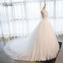 Liyuke J15 Sweetheart Ball Gown Wedding Dress Chapel Train