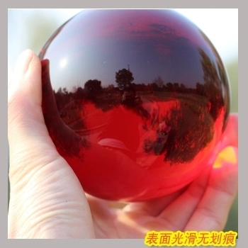 free shipping hot selling ASIAN QUARTZ red Crystal glass Ball Sphere 40mm