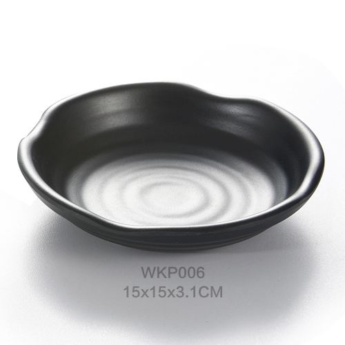 6INCH Wholesale Porcelain like Plate Zen Style Dipping Sauce Dishes, for Appetizer, Dessert